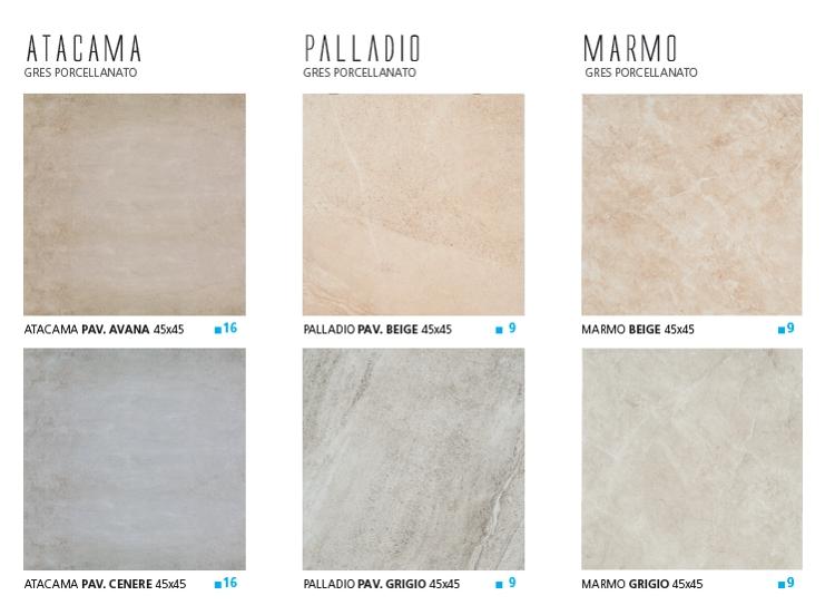Pavimenti - Atacama-Palladio-Marmo-45x45